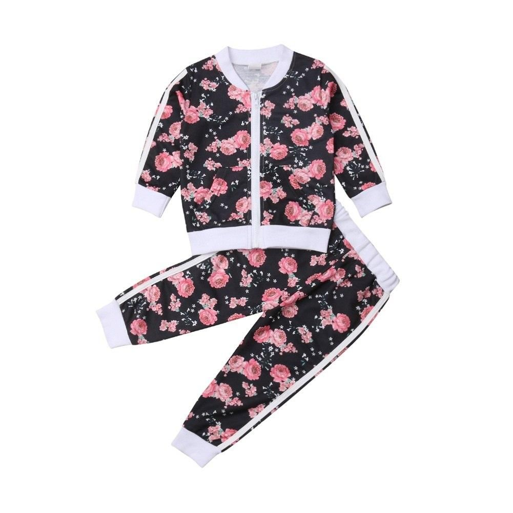 1ba8e5bbfff28 Black and Pink Floral Jogger Set in 2019 | Girly Glitz and Glam ...