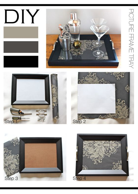 Diy Picture Frame Tray Crafts Pinterest Picture Frame Tray