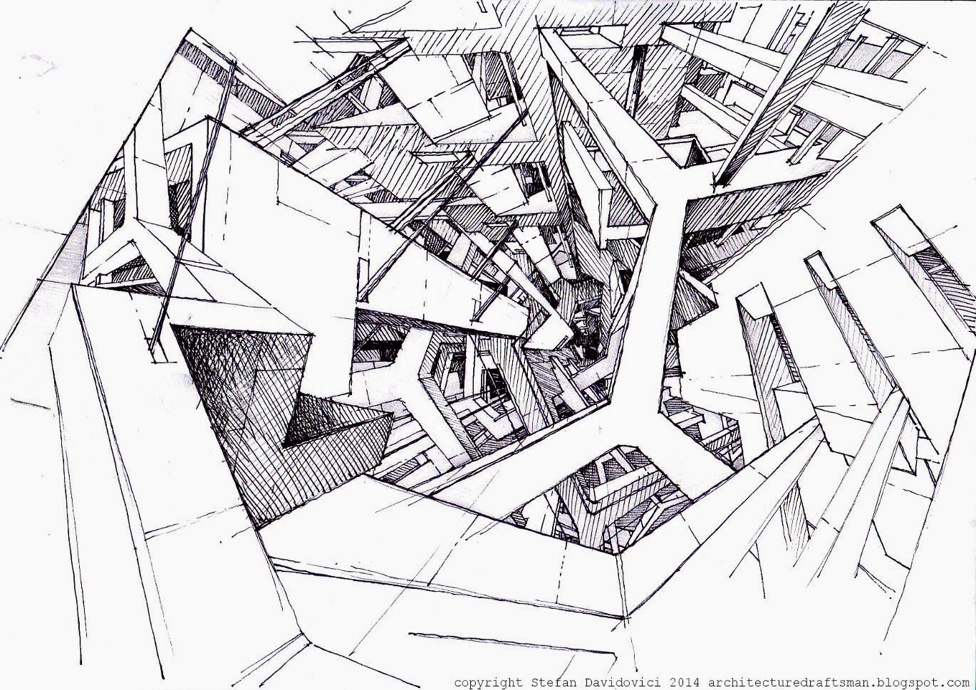The Architecture Draftsman Architecture Concept Drawings Architecture Sketch Architecture Drawing