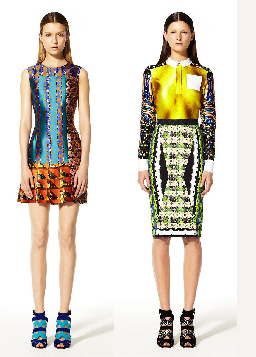 Peter Pilotto Resort 2013 | Effortless looks that pack a print perfect voguish punch. Also step in, zip up, chic out the door fantastical when the work week is just one clusterfeck of a day after another.