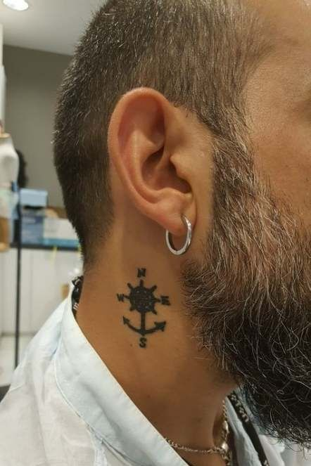Anchor Tattoos For Men In 2020 Neck Tattoo For Guys Small Neck Tattoos Neck Tattoo