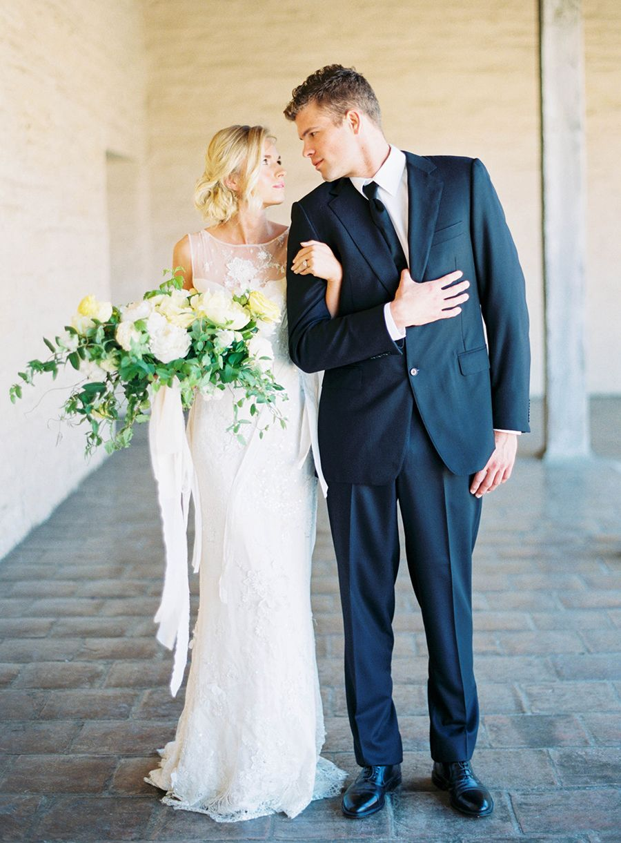 Whimsical yellow hued wedding inspiration wedding blooms
