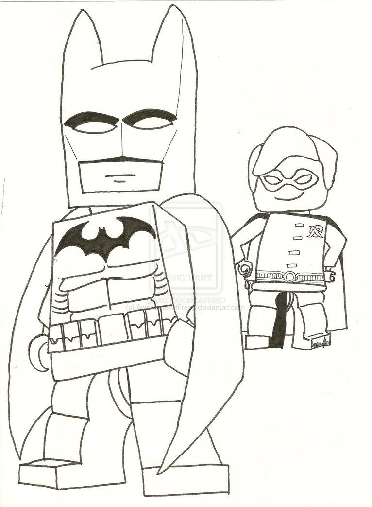 Coloring Pages Batman Coloring Pages Online Free lego batman robin front view coloring page pages free print by awesomeartfreak on deviantart