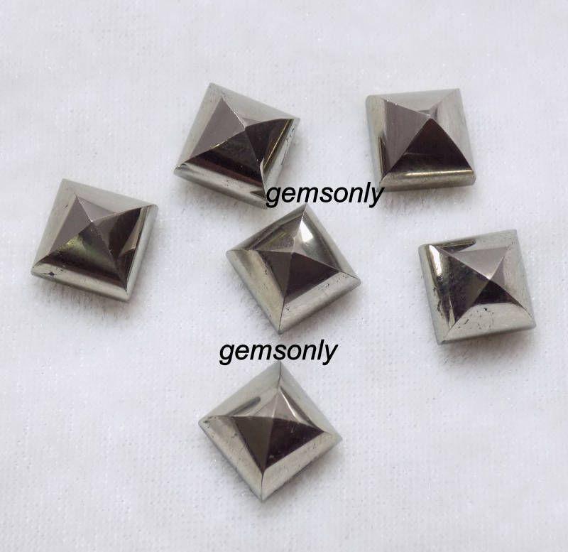 10mm natural pyrite pyramid golden pyrite cabochon 10mm