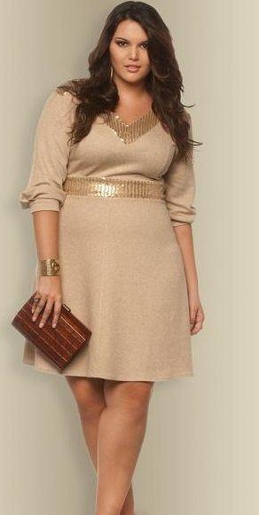 VESTIDOS MANGA 3/4 PARA GORDITAS | Pinterest | Sleeved dress, Curvy ...