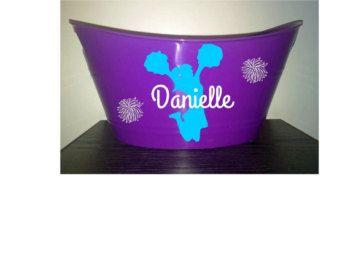 Cheerleade  Personalized Purple Bin, Easter Basket and More!