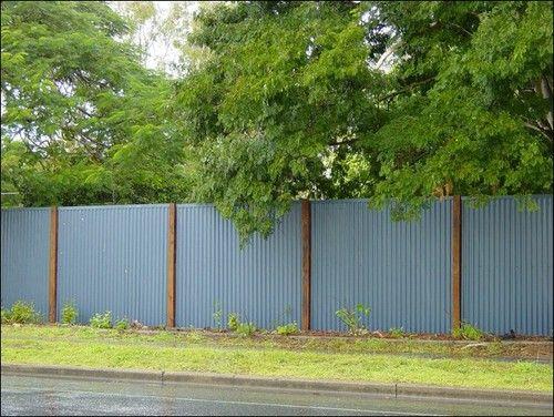 the fence barn - photos \u003e colorbond \u003e corrugated fence with timber