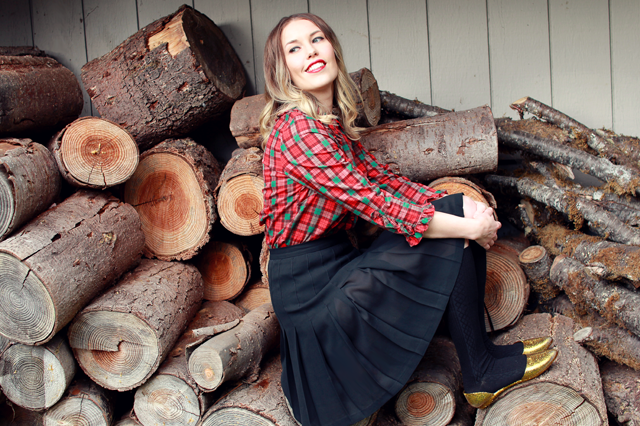 Merry Christmas 2014 by Wear The Canvas #plaid #winterfashion