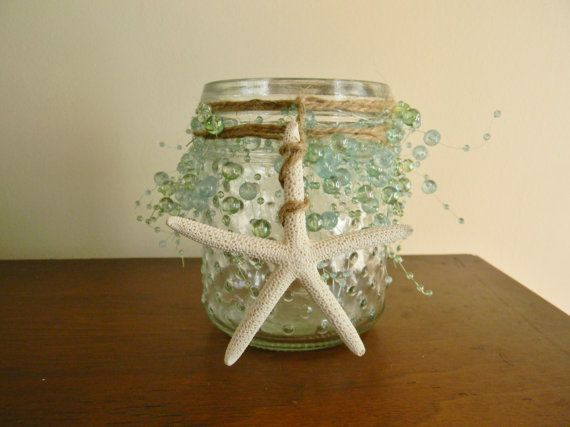 Coastal Candle Holder Coastal Wedding by AdariaHomeAccents on Etsy
