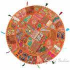 "32"" Big Orange Patchwork Round Colorful Decorative Floor Pillow Cover Cushion Se..."