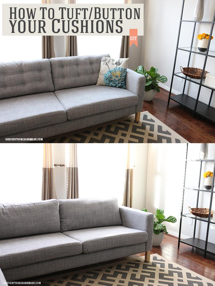 Diy How To Tuftbutton Your Ikea Karlstad Cushions Ikea