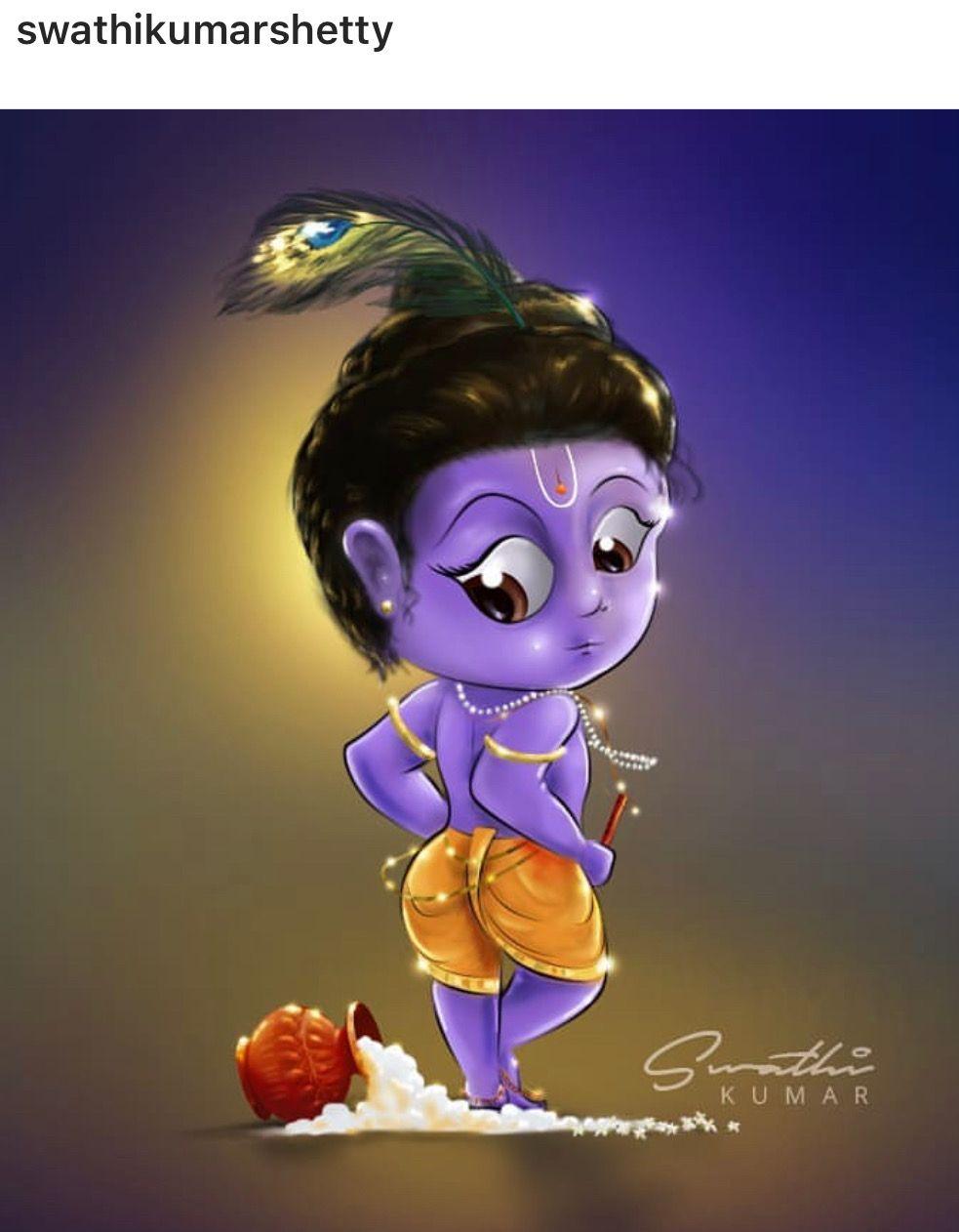 Jai Shri Krishna Cute Krishna Radha Krishna Art Little Krishna