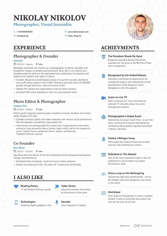 12 Photographer Job Description Resume in 2020 Good
