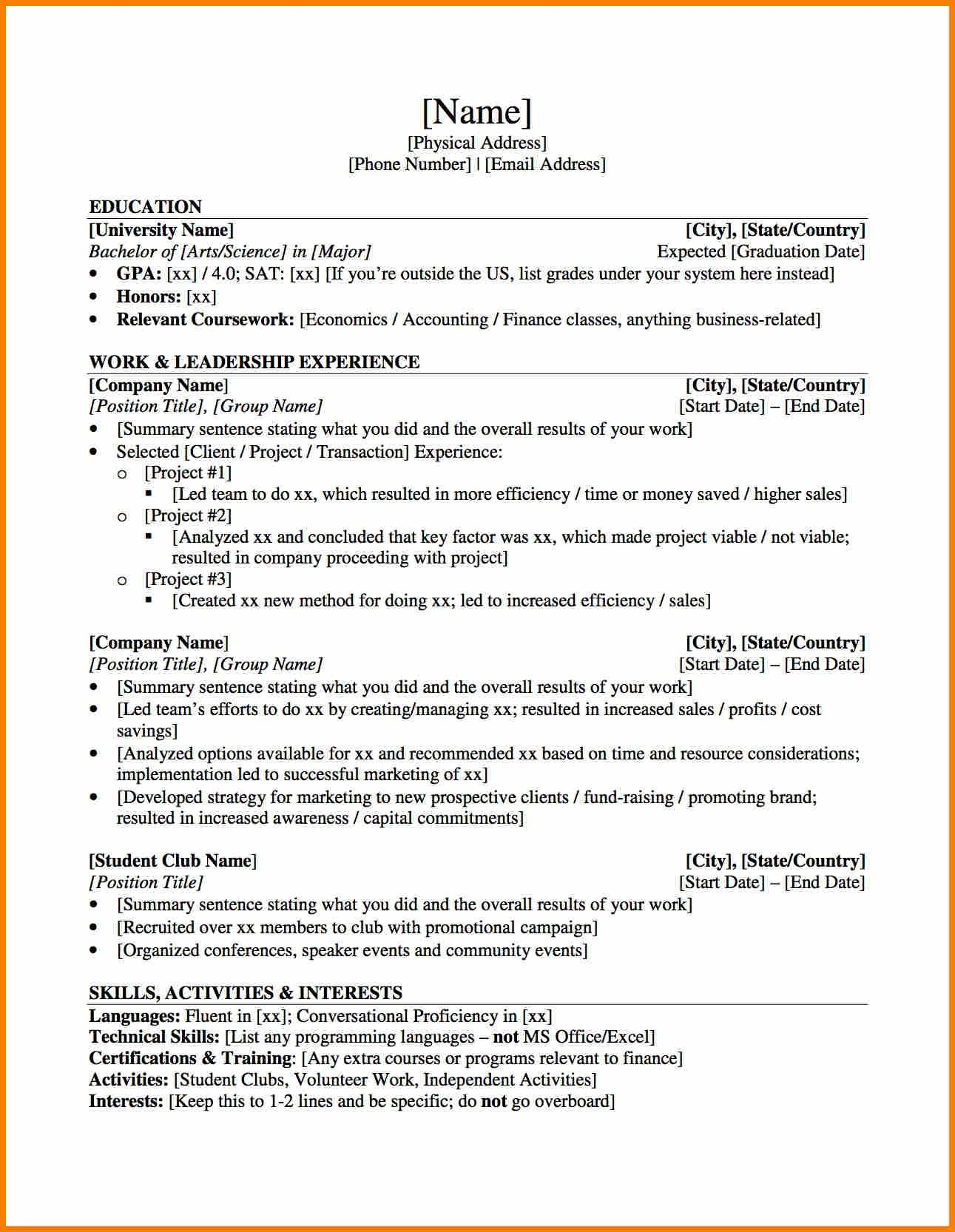 investment banking cover letter examples