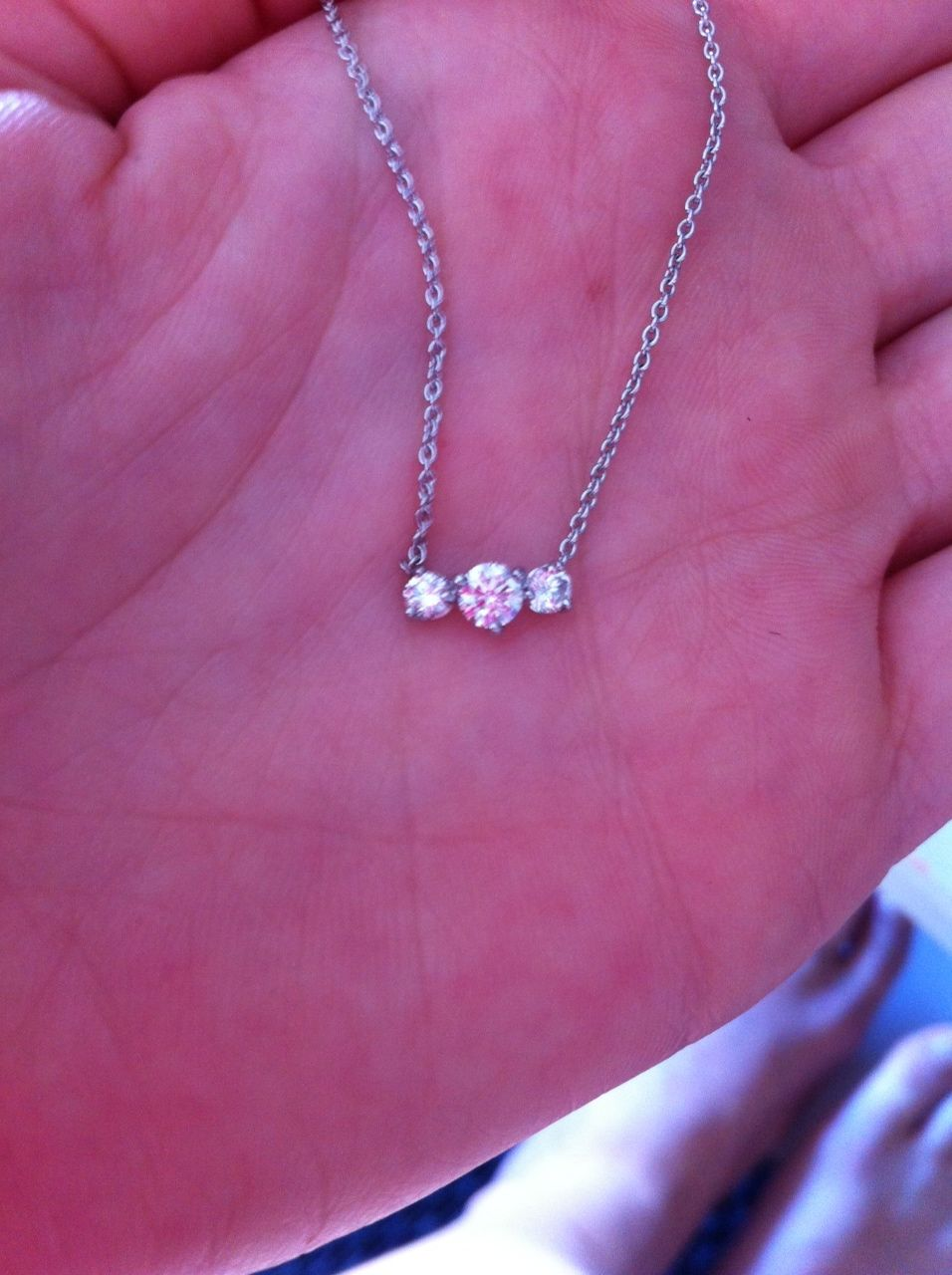 Custom made trilogy diamond necklace bijouxanciensris custom made trilogy diamond necklace aloadofball Choice Image