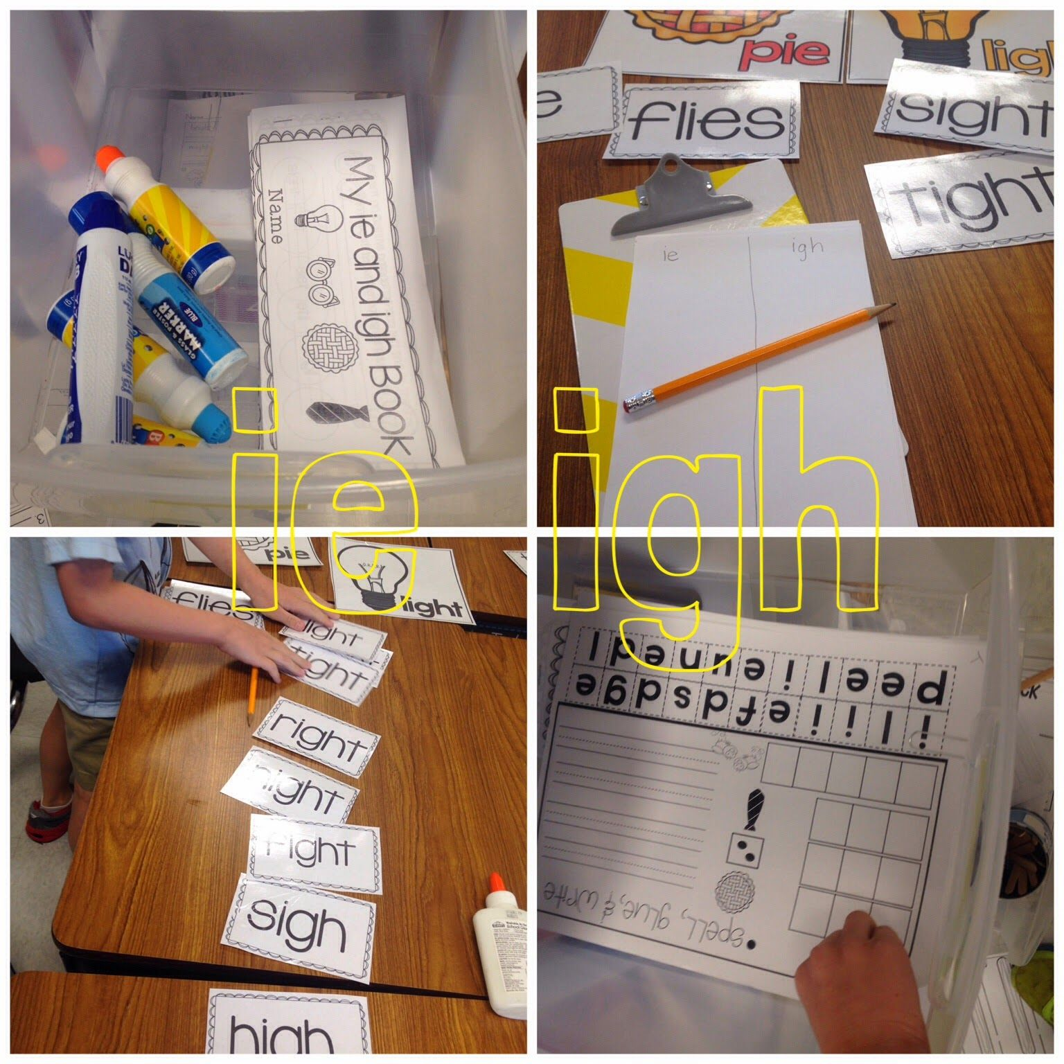 Easy Word Work For Different Spelling Patterns Same