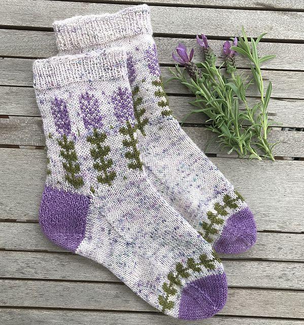 Photo of Ausgezeichnet Blooming Lavender Sockenmuster von Stone Knits Blooming Lavender S…