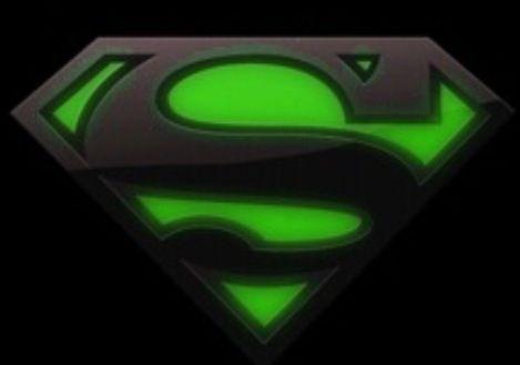 green black superman logo