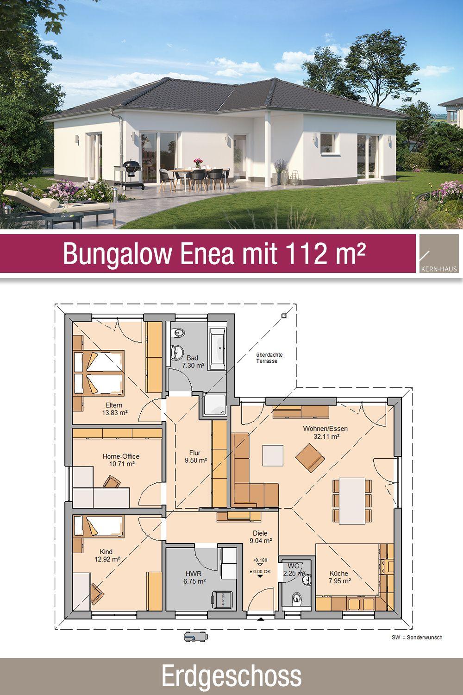 Bungalow Grundriss 112 m² 4 Zimmer Erdgeschoss
