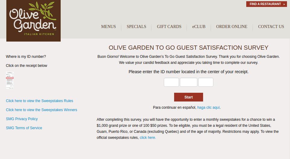 Ogtogosurvey Complete Olive Garden