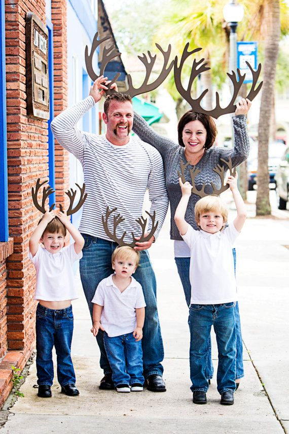 Items Similar To Reindeer Antlers Holiday Card Photo Props