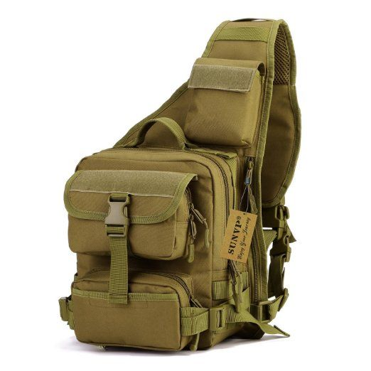 MOLLE Chest Shoulder Bag Crossbody Pack Outdoor Sports Camping Cycling Backpack