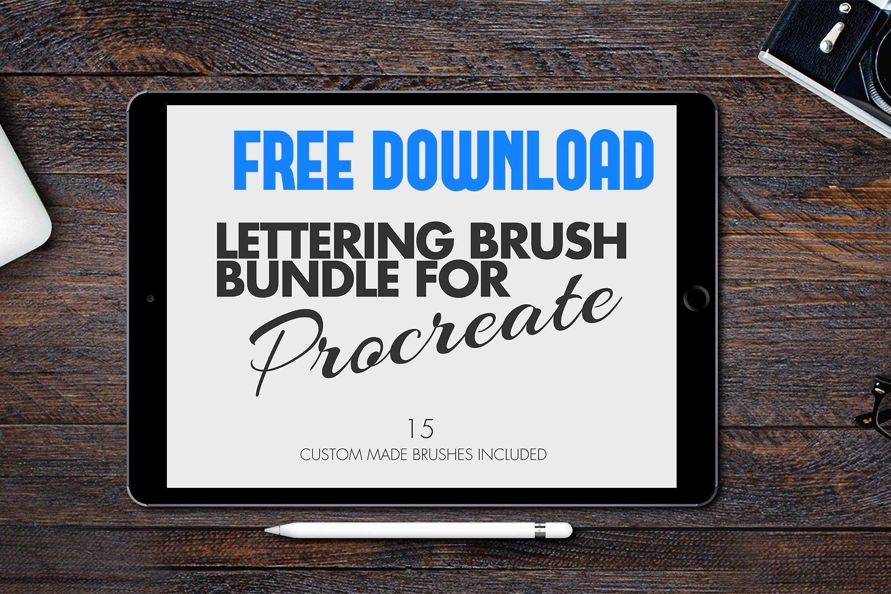 Autumn brush bundleprocreate web design lettering