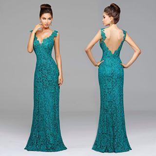 Vestido verde tiffany simples