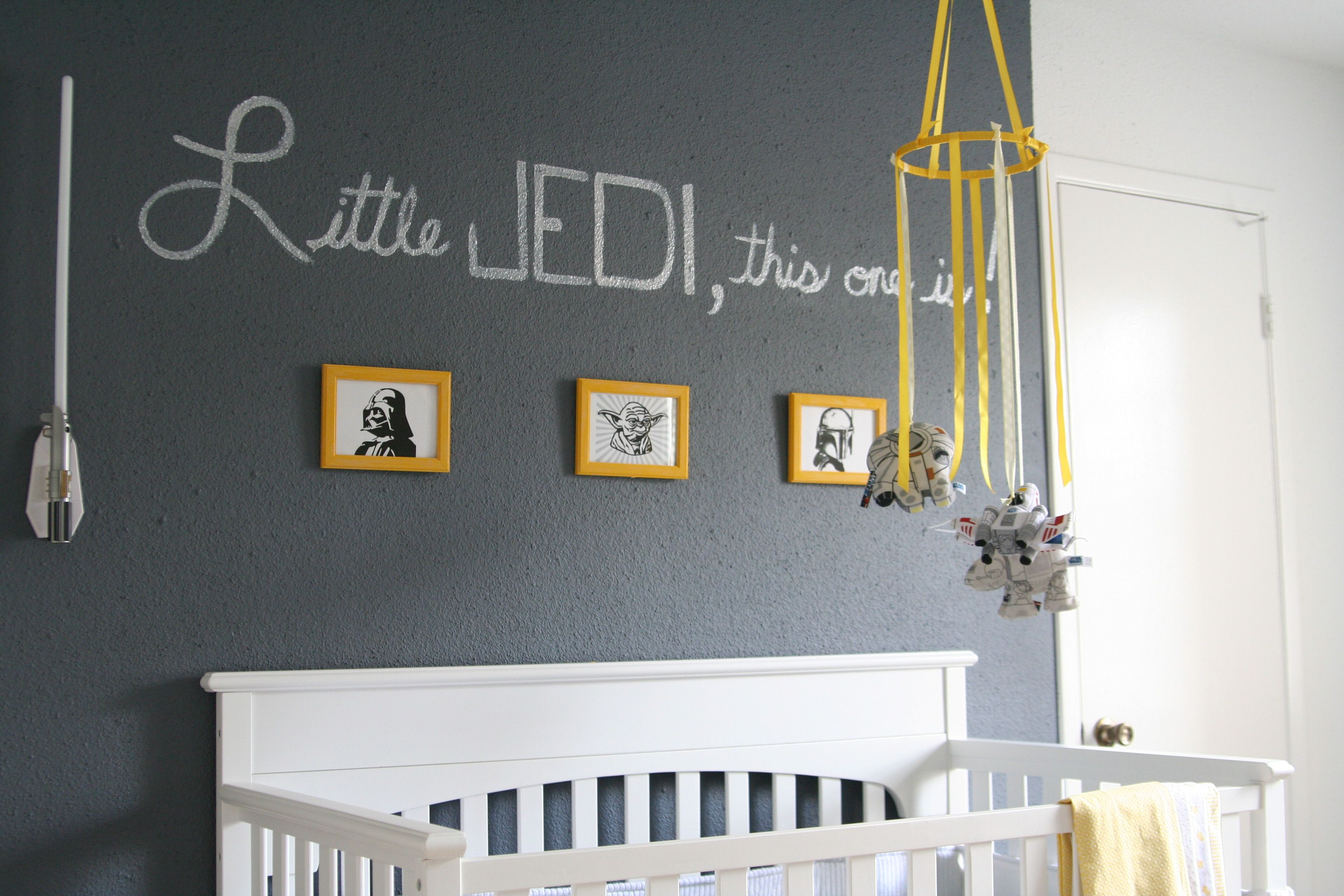 Little JEDI this one is! STAR WARS Nursery complete with a ...