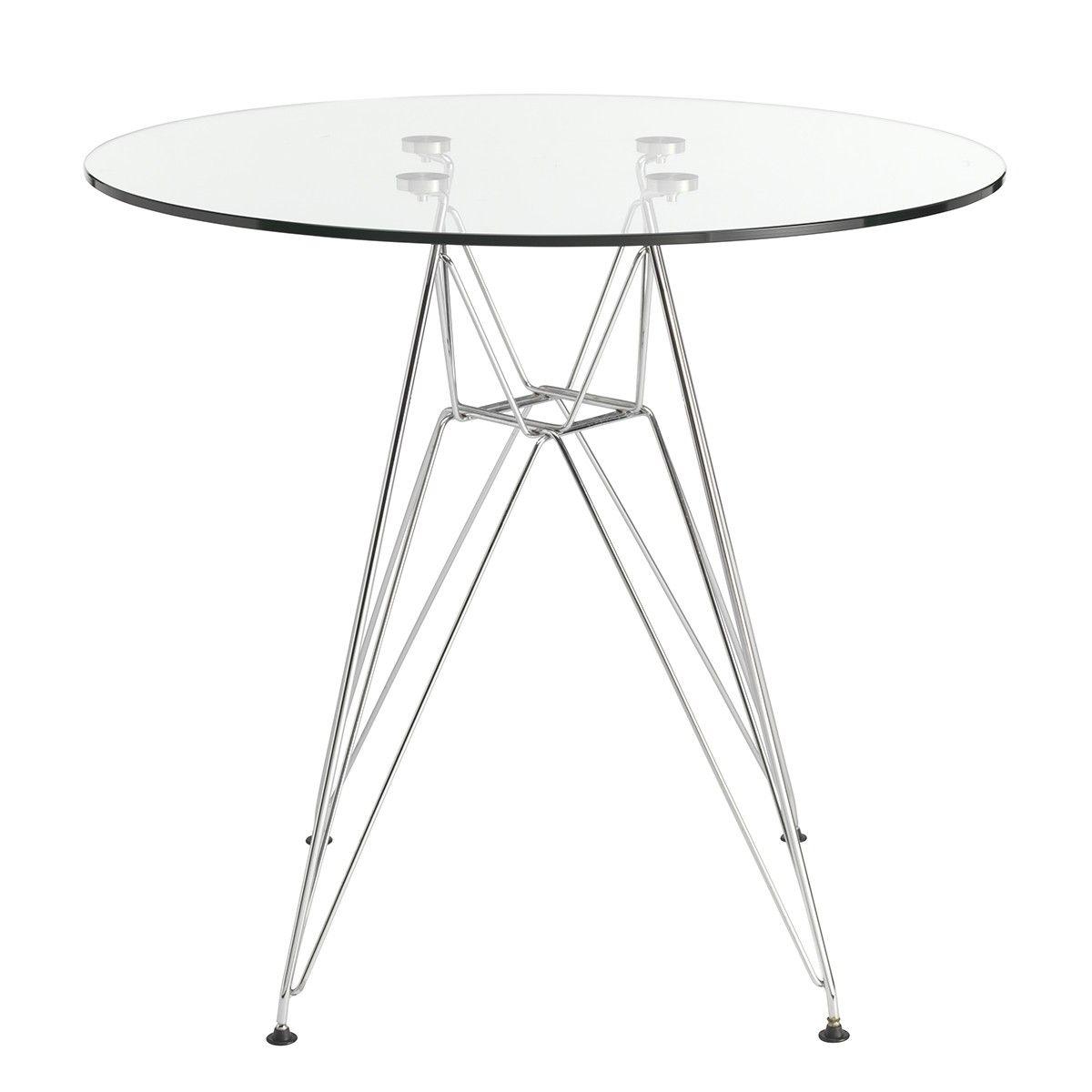 Side Table Replica Eames Glass Steel Legs Glass Coffee Table Side Table Replica Furniture [ 1200 x 1200 Pixel ]