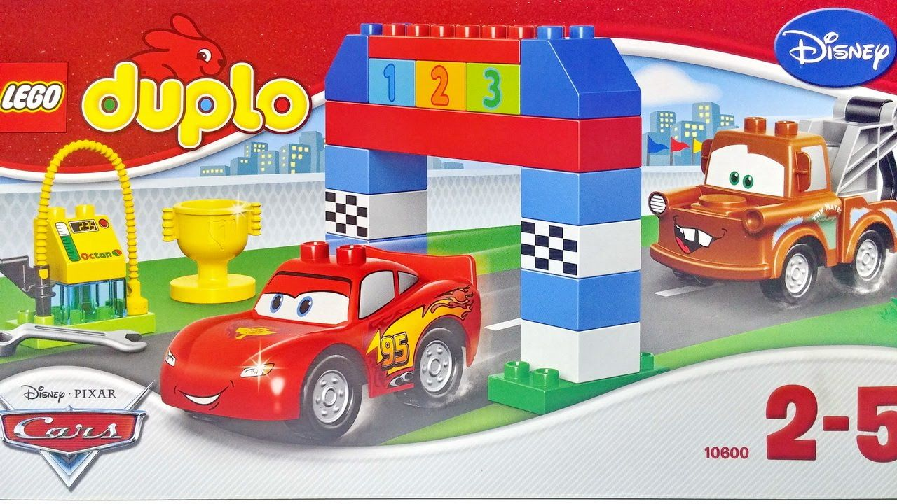 Cars Lightning Mcqueen And Mater Disney Pixar Cars Classic Race Lego Duplo 10600 Playset Lego Duplo Cars Lego Duplo Disney Pixar Cars