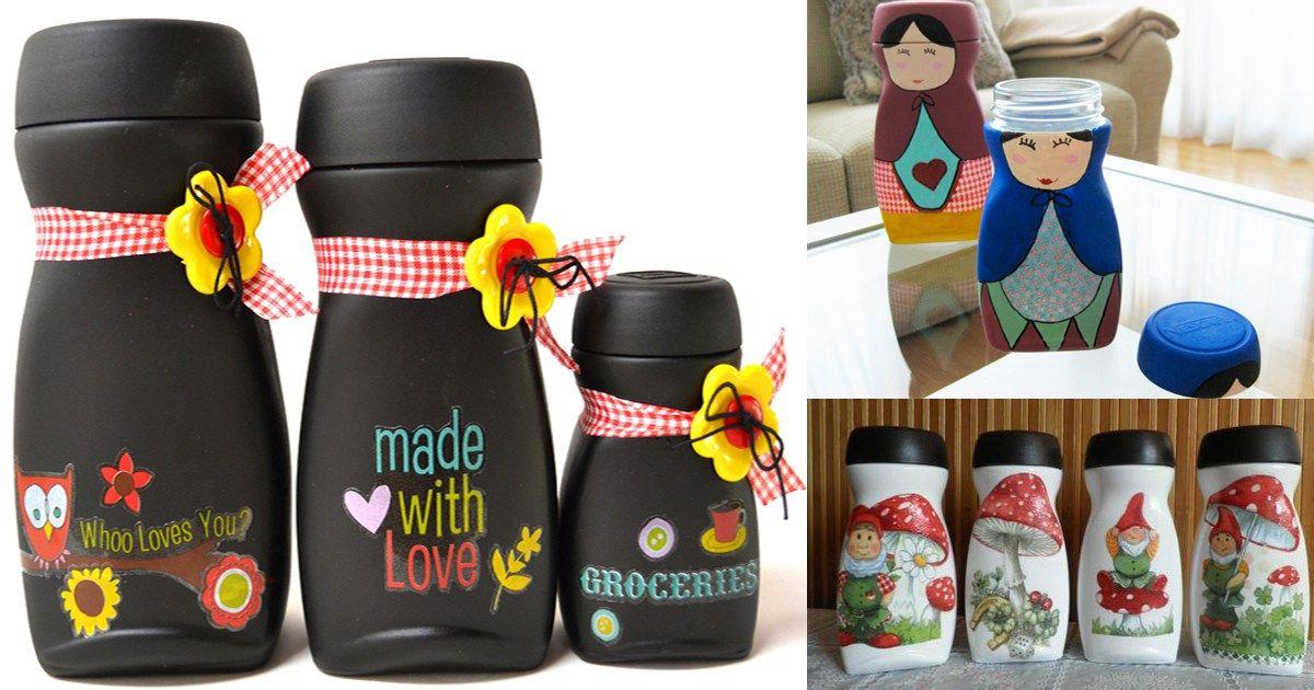 Ideas para reutilizar frascos de nescaf sarahi for Reciclar frascos de vidrio de cafe