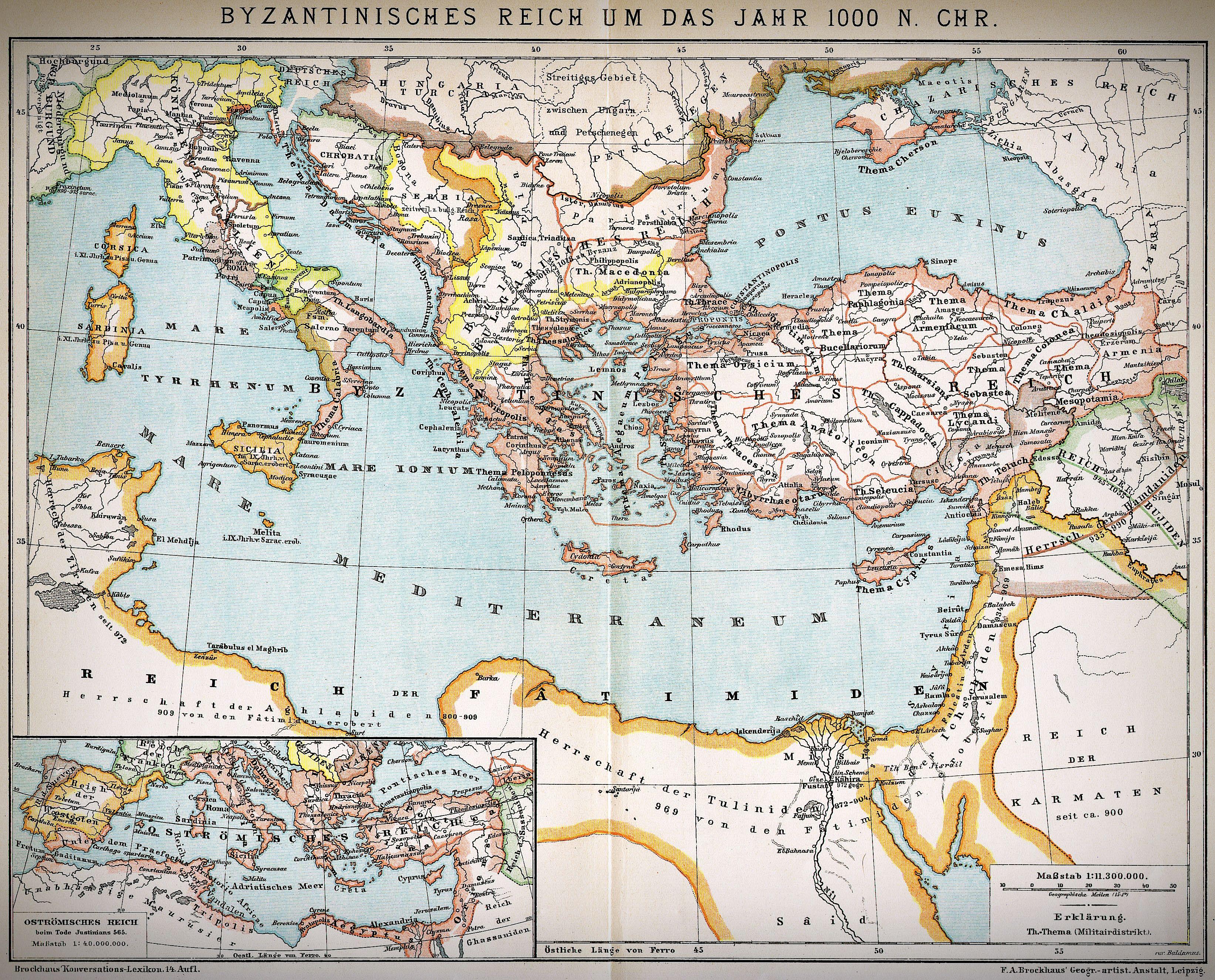 Das Byzantinische Reich Verkurzt Auch Nur Byzanz Oder Aufgrund