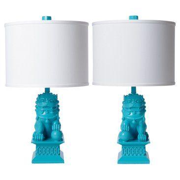 Foo Dog Table Lamp Set Seaside Dog Lamp Mini Table Lamps Table Lamp Sets