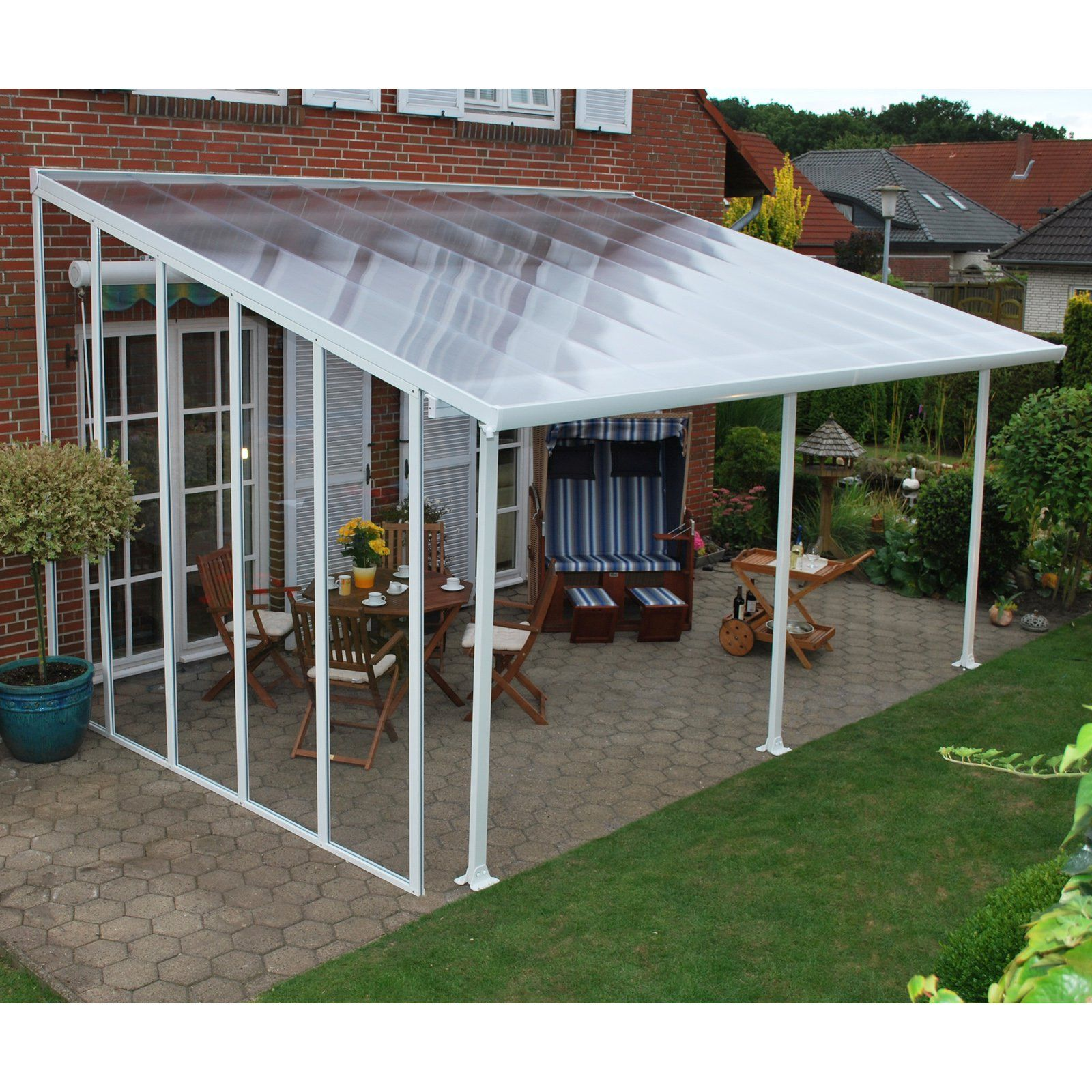 Palram Feria Patio Cover 10 Ft Sidewall Kit In 2019