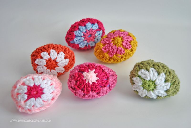 Granny Square Crochet Easter Eggs Granny Squares Free Pattern And