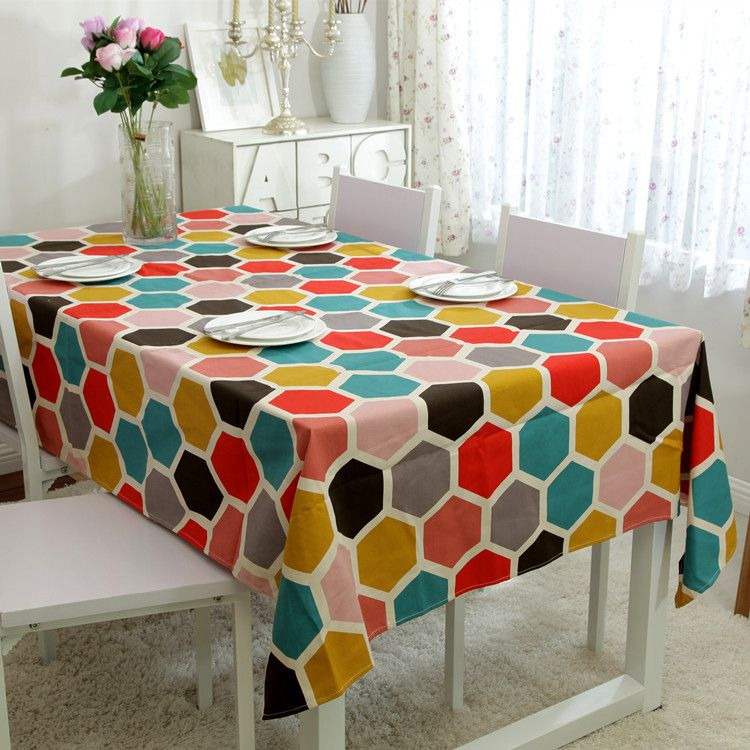 Superbe 100% Cotton Table Cloth IKEA Europe Geometric Print High Quality Tablecloth  Table Cover Manteles Para