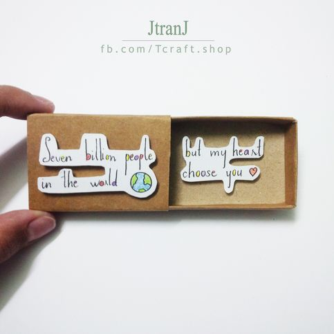 Love Card Matchbox Card Greeting Card Diy Gifts Matchbox