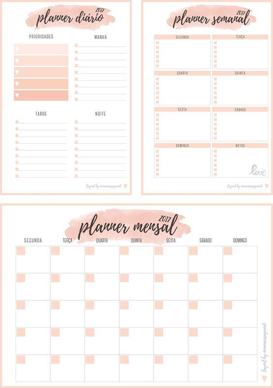 inserts planner 2017 para download