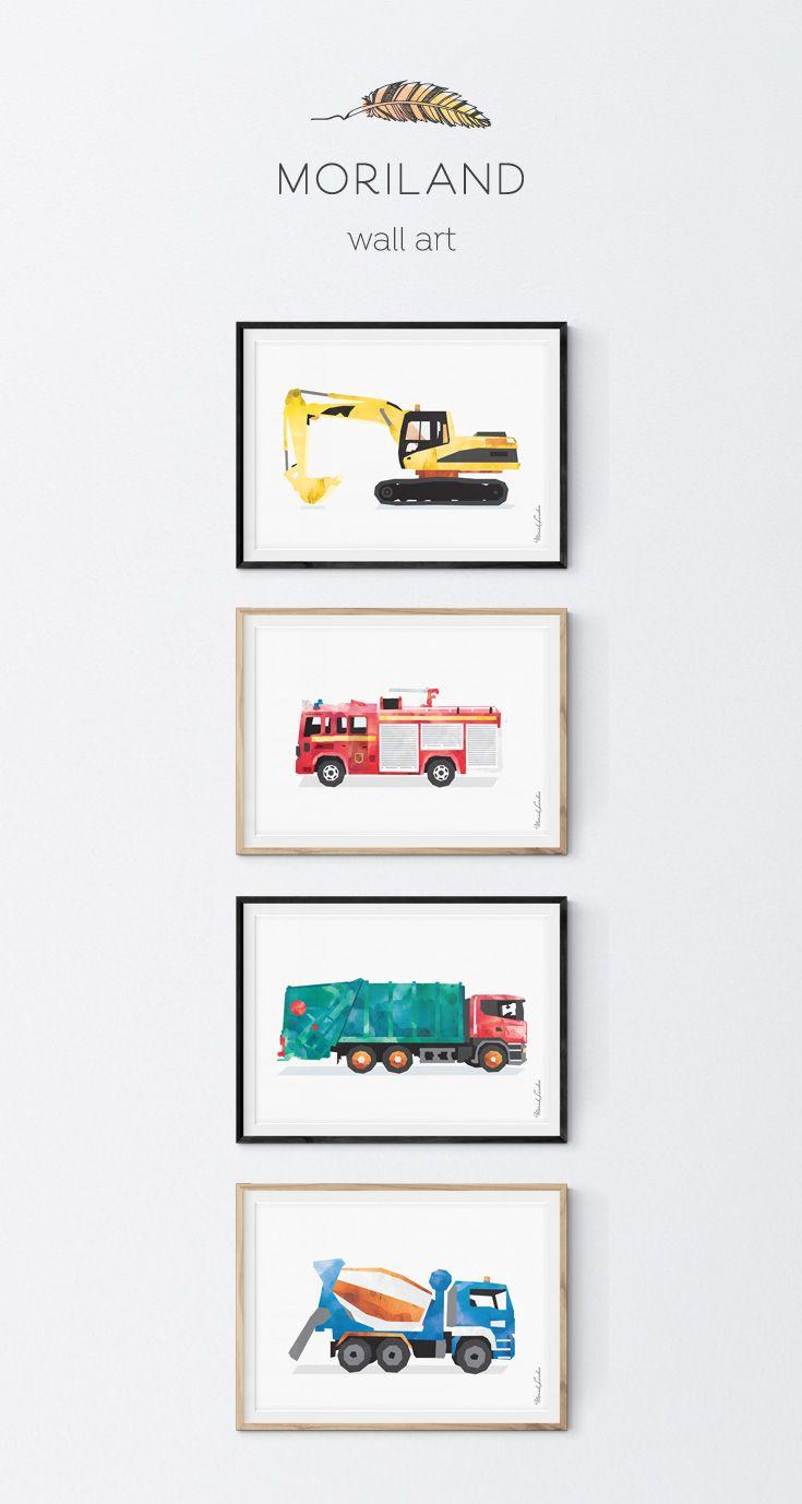 Firetruck Print, Fire Truck Printable, Fire Truck Decor