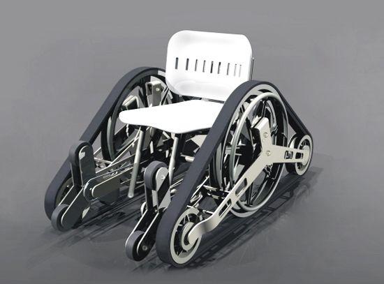 Zenith wheelchair with allterrain tracks allows freedom of – All Terrain Chair