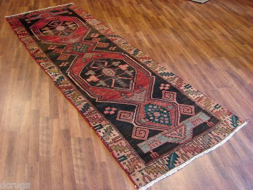 Estate Super Persian KURDISH BIDJAR Geometric Tribal Runner Wool Rug 3x9 KV3 | eBay