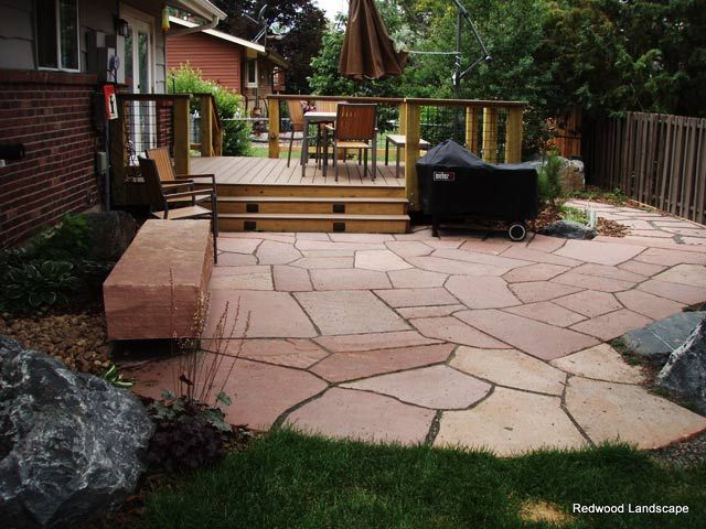 Red Flagstone Patio Option For Back Patio Under Sand Box/water Table. Easy  To
