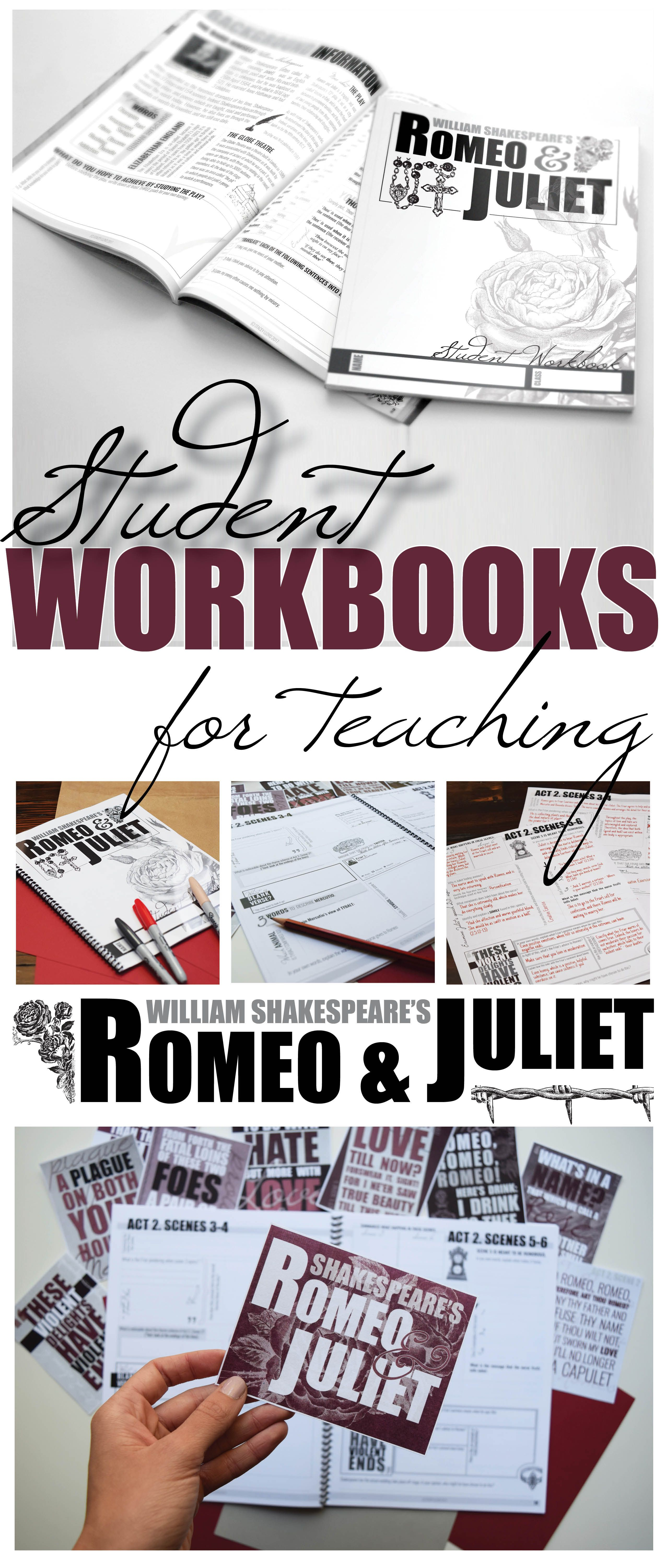 Romeo And Juliet By Shakespeare Student Workbooks