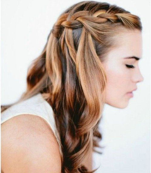 13 Easy Summer Hairstyles Your Inner Mermaid Will Love Easierthanitlooks waterfall braided summer hairstyle perfect for any occasion