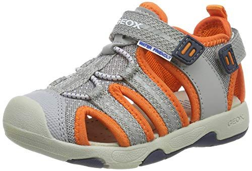 Geox Baby Sandal Multy Boy B, ((Grey/Orange C0036), 3.5 UK ...