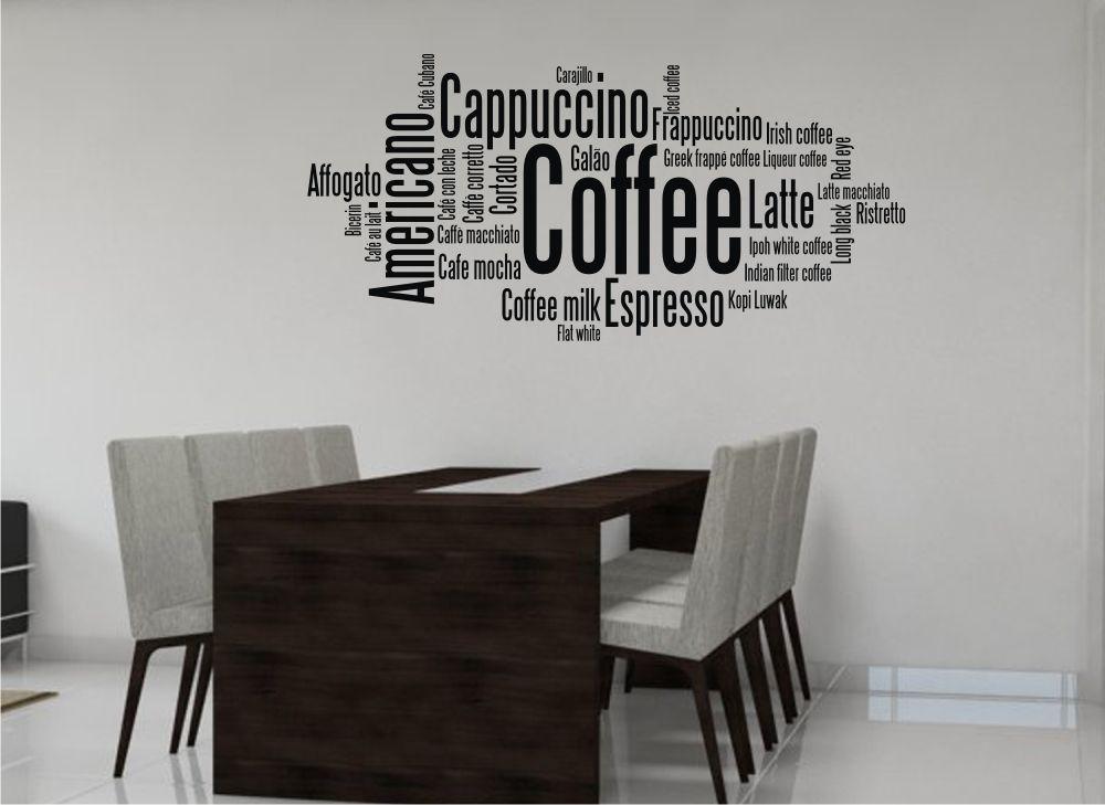 káva nápisy