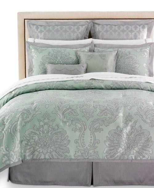 Martha Stewart Collection Regal Damask 24 Piece Queen Comforter Set