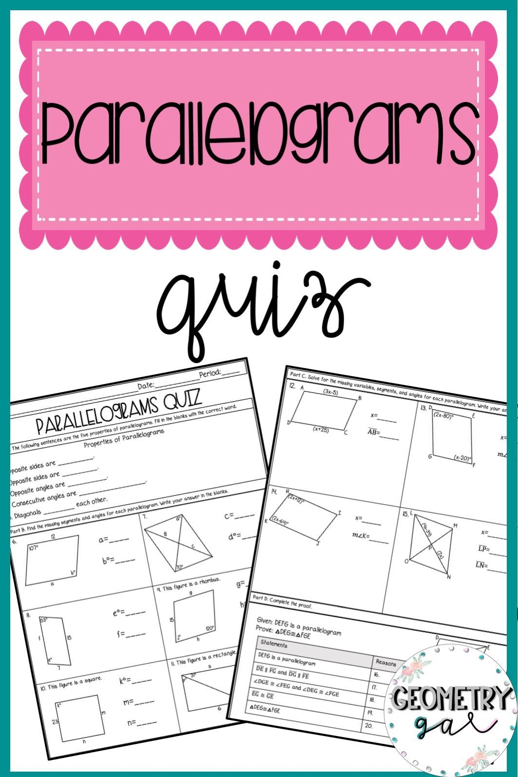 Parallelograms Quiz