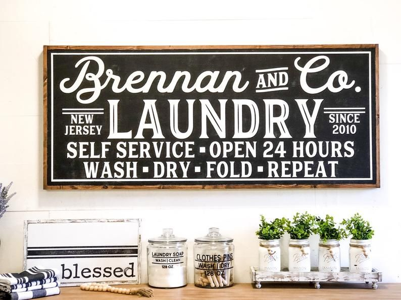 Laundry Room Sign Laundry Sign Laundry Room Decor Vintage